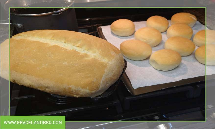 cooked Buns and bread