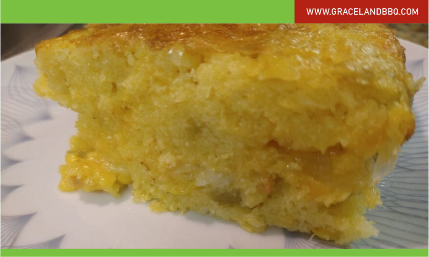 Cornbread with cheese and peppers recipe
