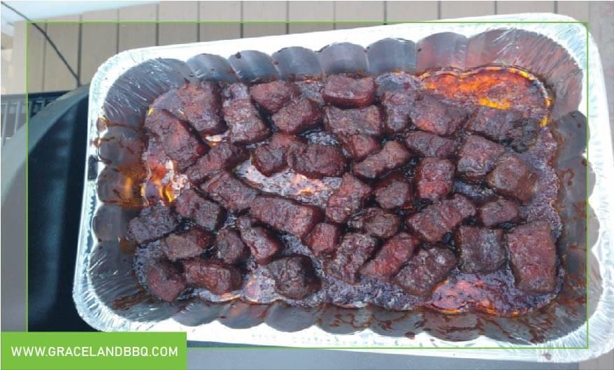 Pork Belly burnt cubes in sauce